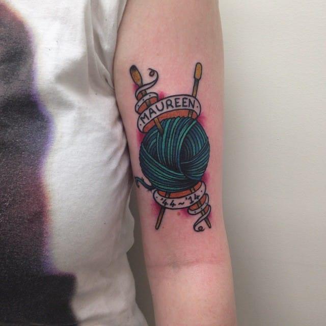 Knitting Tattoo by Caleb Clayton