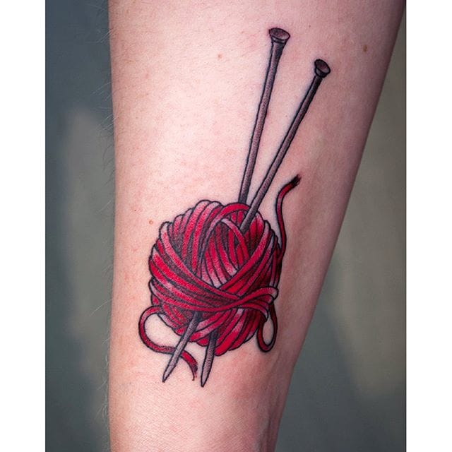 Knitting Tattoo by xkaix