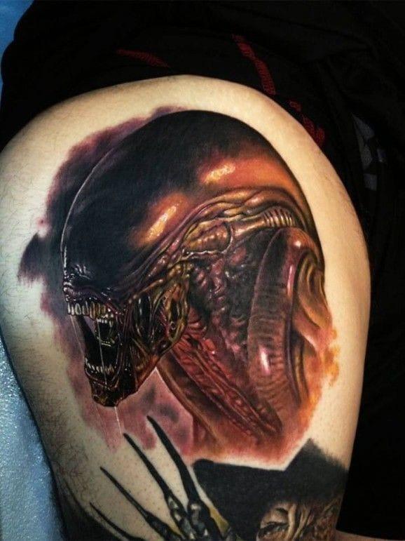 Xenomorph Tattoo, artist unknown