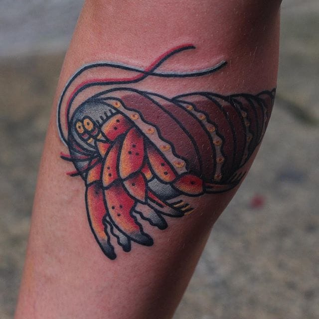 Hermit Crab Tattoo by @miguelmike77