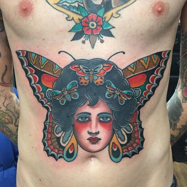 10 Bold and Beautiful Girl Head Tattoos by Todd Noble