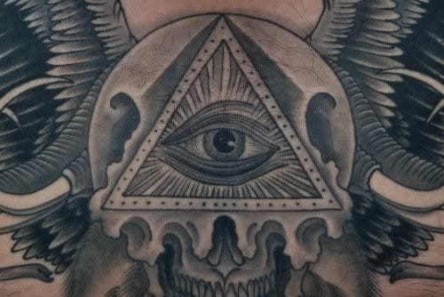 The Eye of Providence is usually visualized in a triangle which signifies the Holy Trinity - the Father, the Son & the Holy Spirit.
