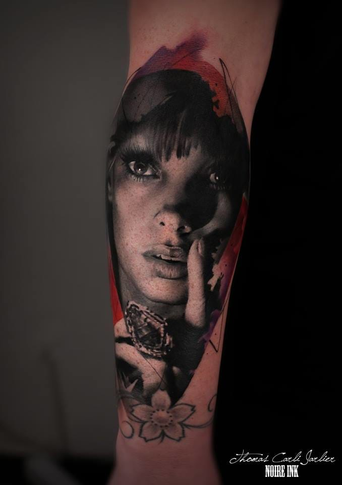 Elegant and dark tattoo by Thomas Carli-Jarlier