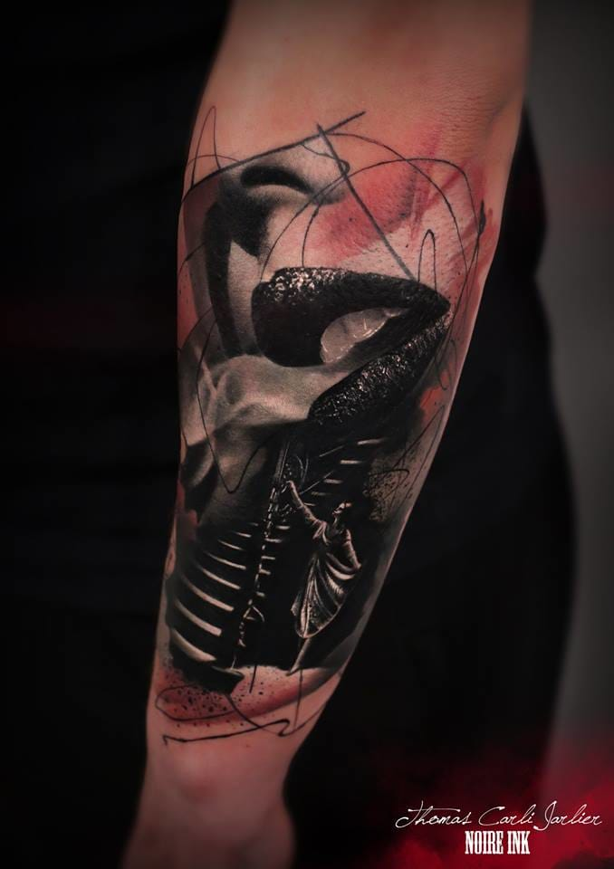 Creative idea. Dark tattoo by Thomas Carli-Jarlier