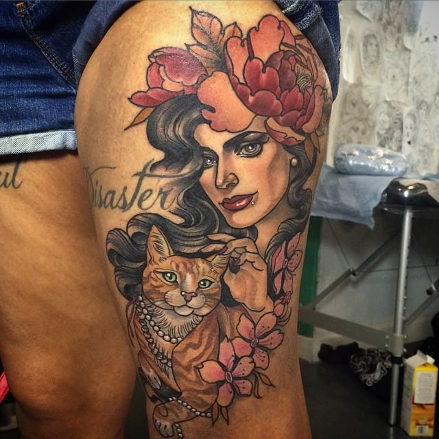 The Badass Neo Traditional Art Of Kat Abdy