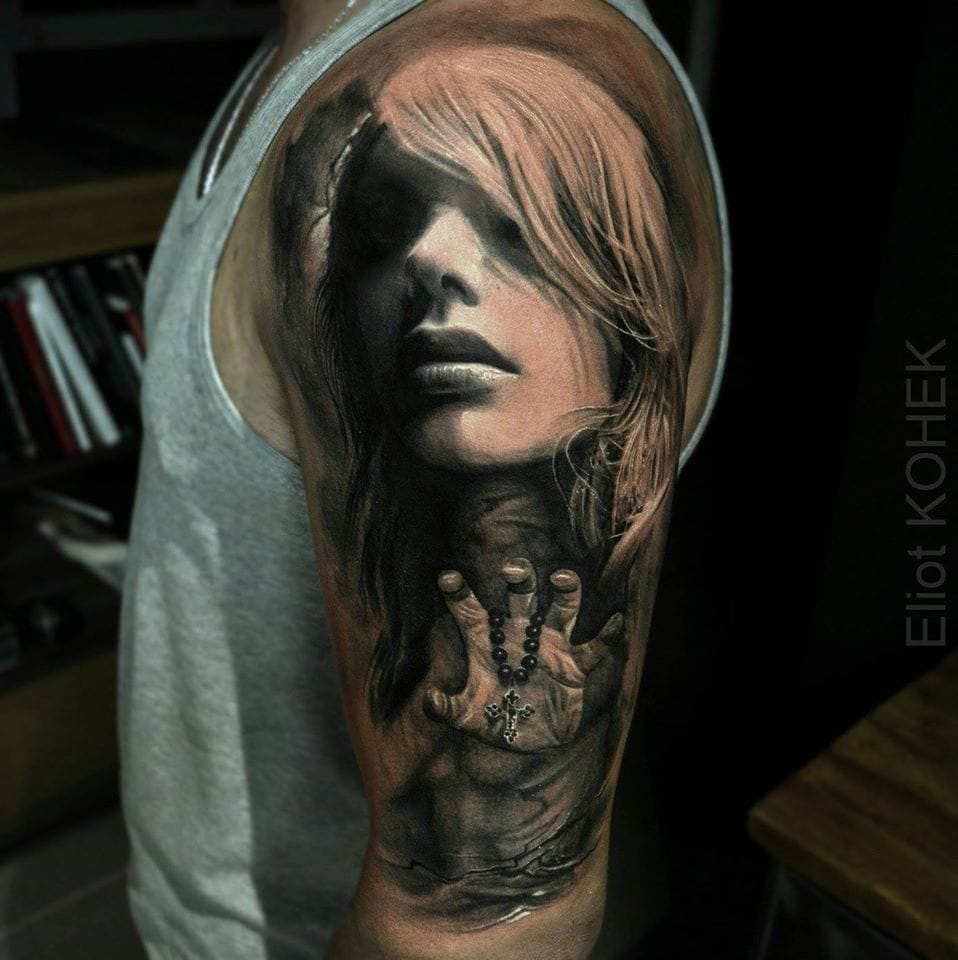 Dark Black And Grey Realism By Eliot Kohek