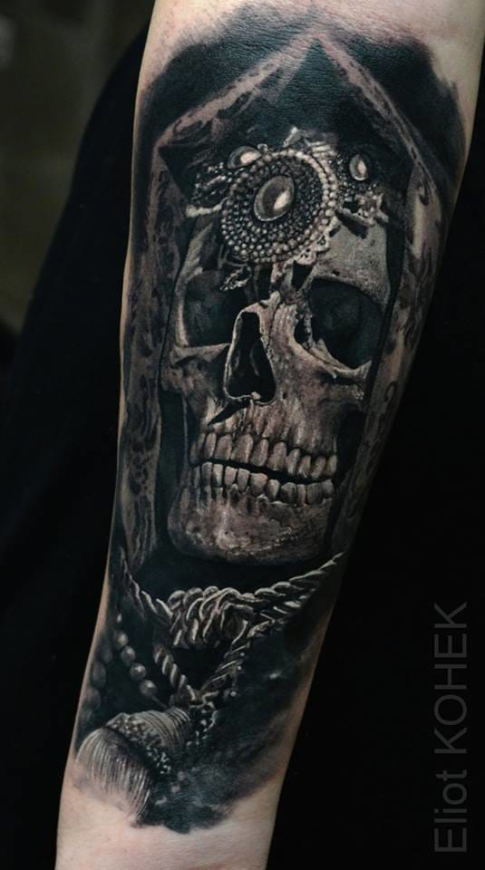 Eliot Kohek is obsessed by skulls.