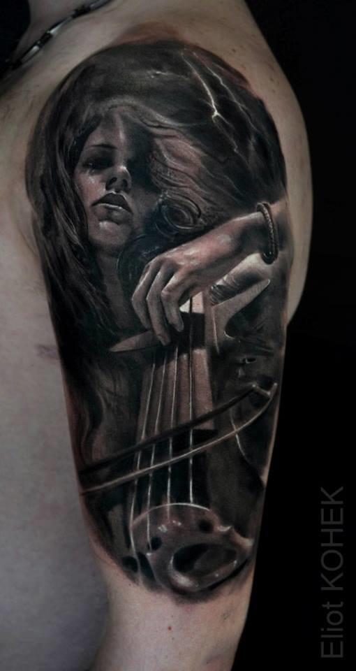 Macabre violin player.