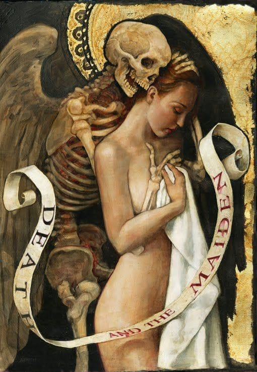 Example of Fine Art inspiration with this PJ Lynch's Death and the Maiden painting.
