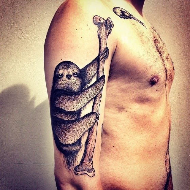 Odd sloth tattoo...
