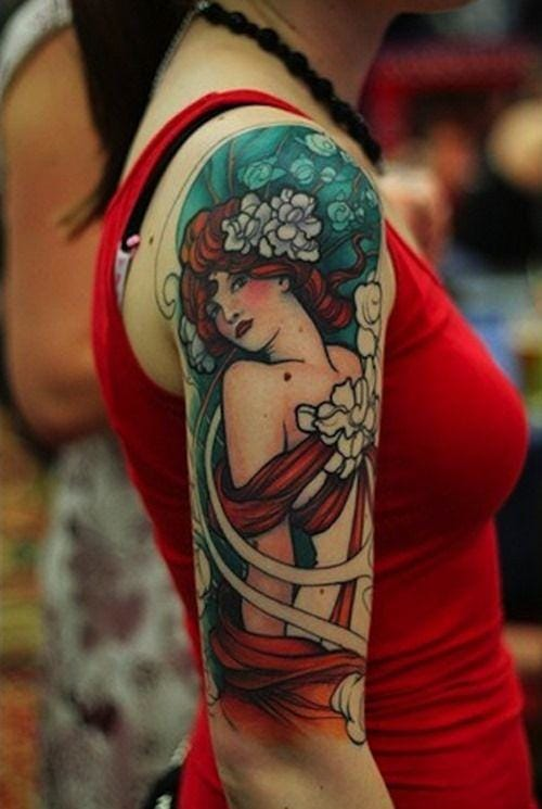 Another unknown artist for this cool tattoo.