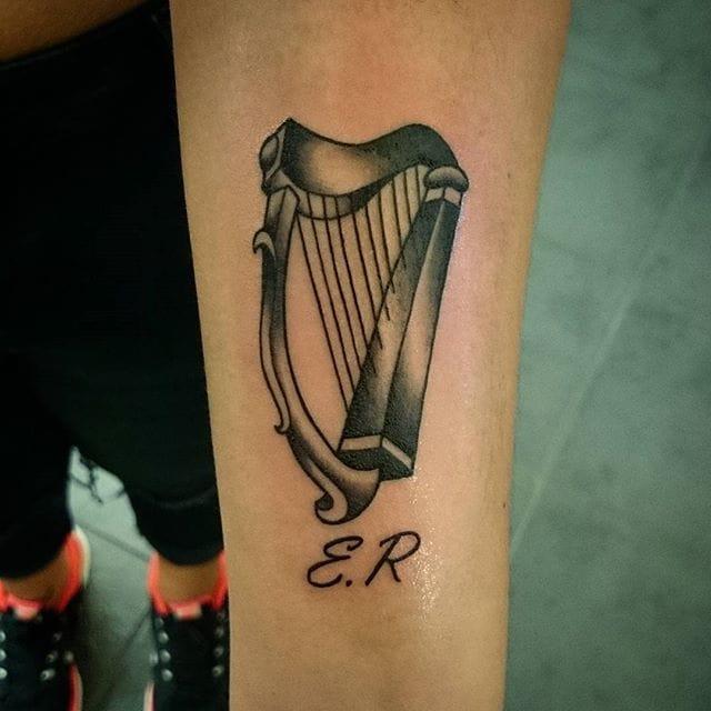 Harp Tattoo by Suzy Yorke