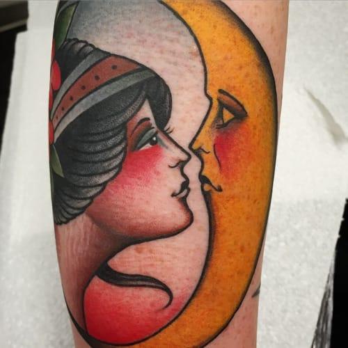 Moon Woman Tattoo by Andrea Giulimondi