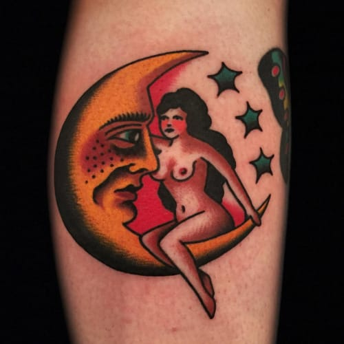 Moon Woman Tattoo by Austin Maples