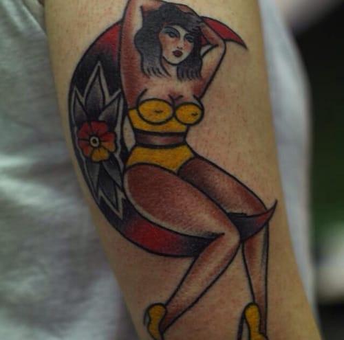 Moon Woman Tattoo by Flavia Paravisi
