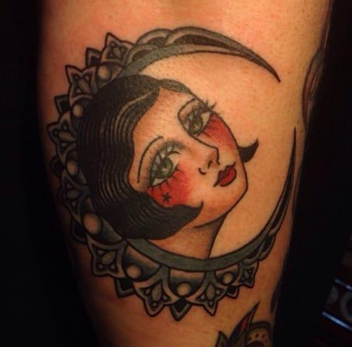 Moon Woman Tattoo by Jaclyn Rehe