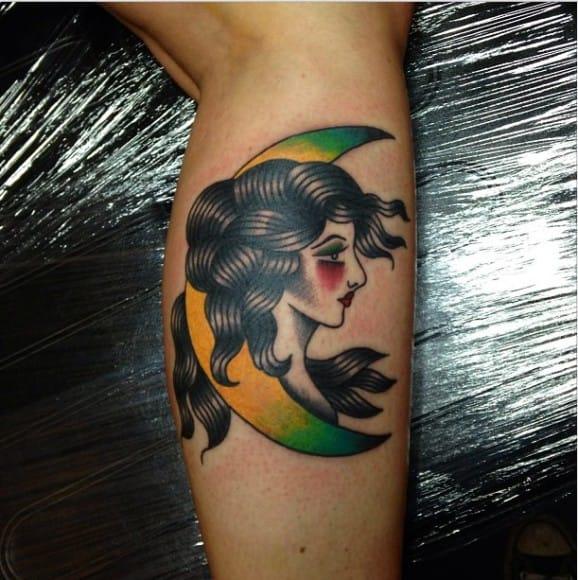 Moon Woman Tattoo by Matthew Chahal