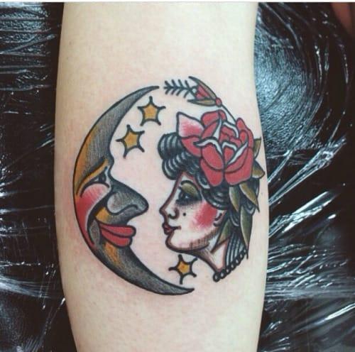 Moon Woman Tattoo by Rich Hadley