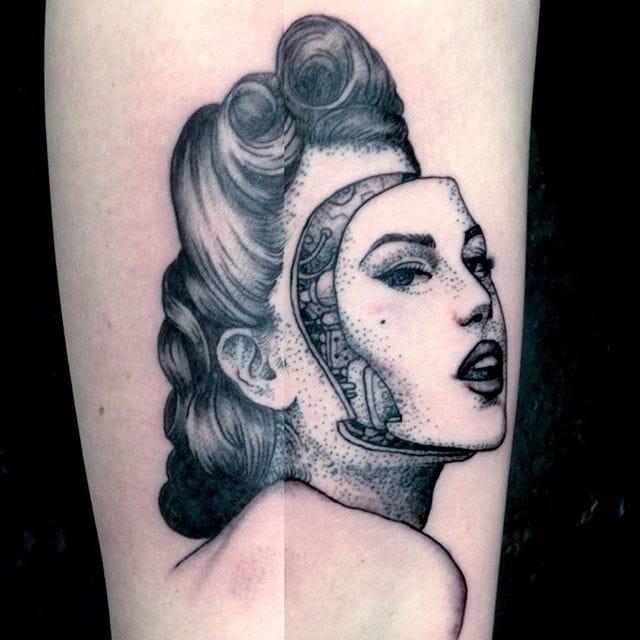 Detailed Cyborg Tattoos by Alex Odisy