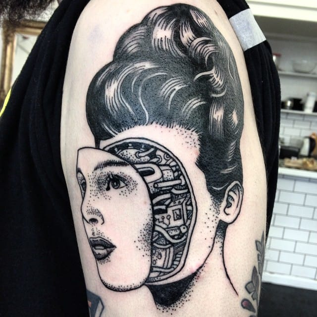 Cyborg Tattoo by Alex Odisy