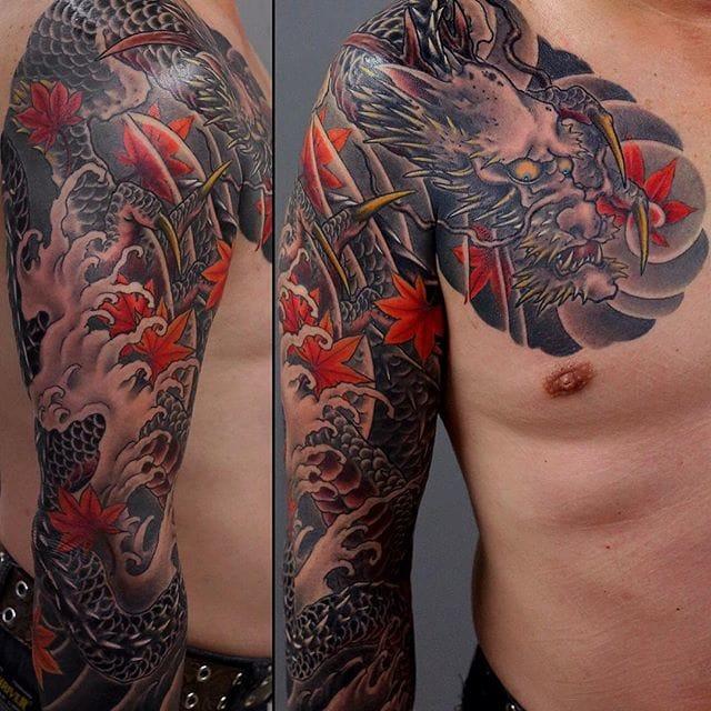 Ryu or Dragon sleeve by Kenji Shigehara