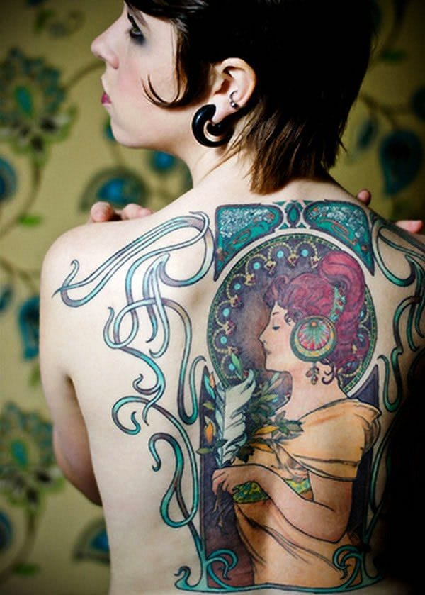 Awesome backpiece by Lacie Frain.