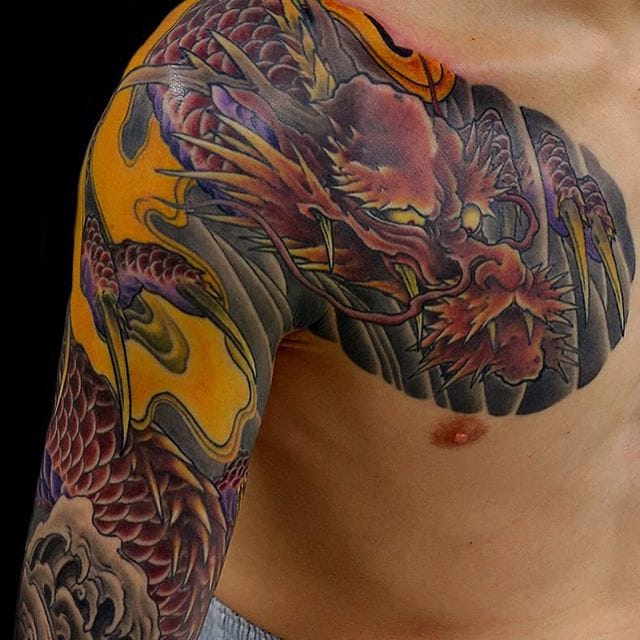 Dragon chest to sleeve by Kenji Shigehara