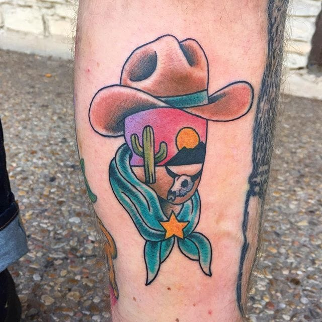 Abstract Cowboy Tattoo by Randy Conner