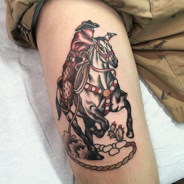 Cowboy Tattoo by Jake Thorsell