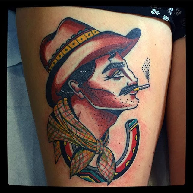 Cowboy Tattoo by Julie Bolene