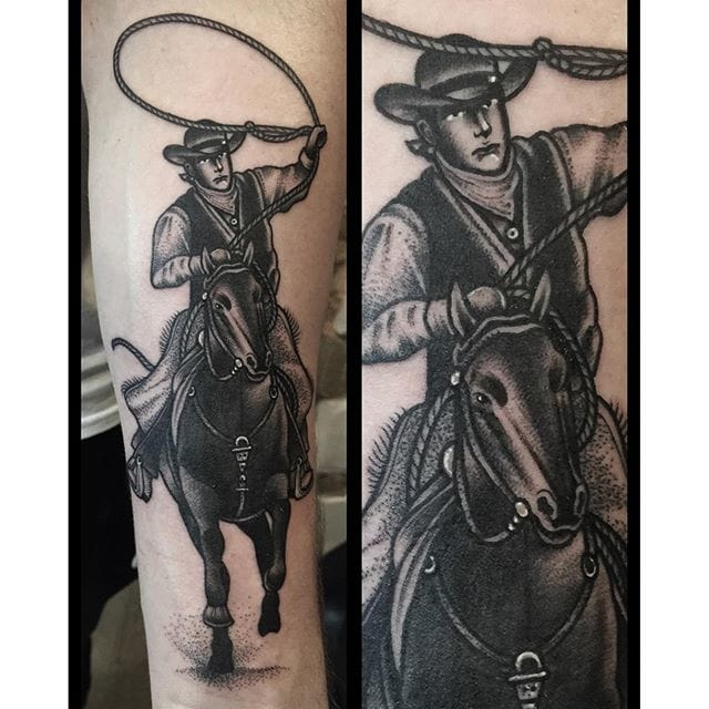 Cowboy Tattoo by Lauren Jayne Gow