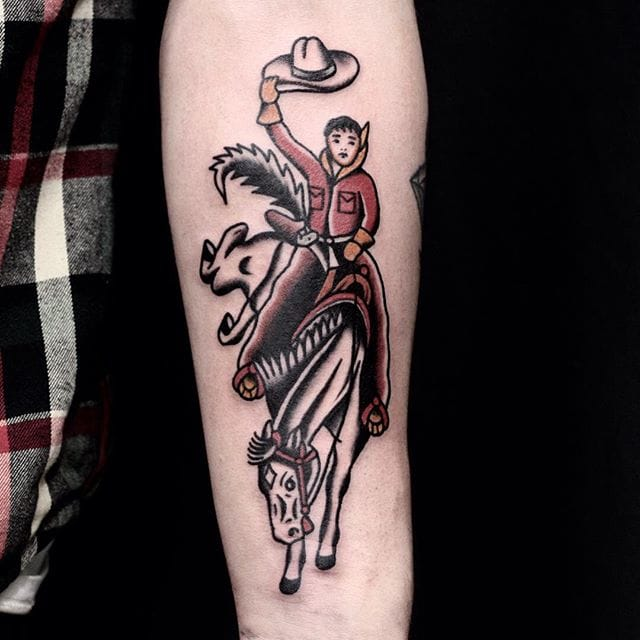 Cowboy Tattoo by Ruslan Tsevtnov