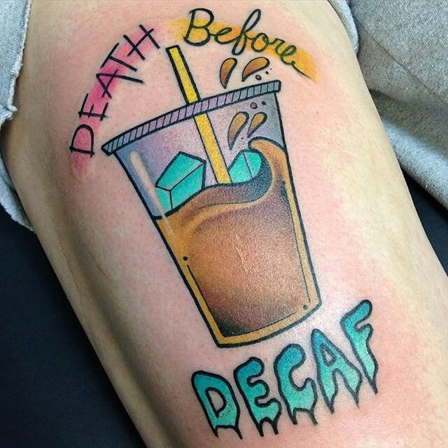 Coffee Tattoo by Nick Stambaugh