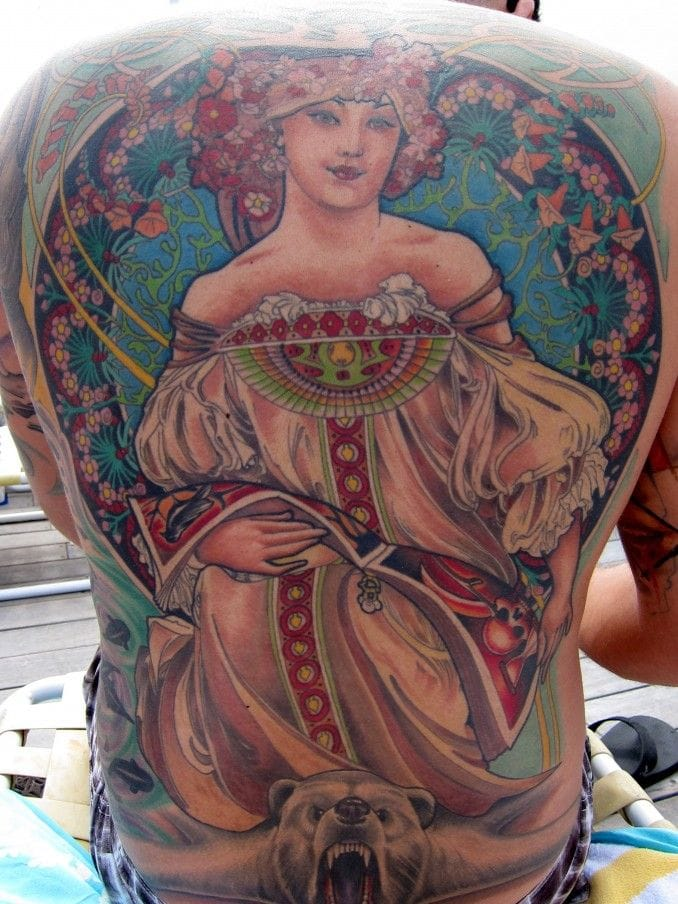 Backpiece by Chris Blinston.