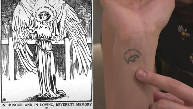 The phrase from the suffragette magazine that inspired her tattoo