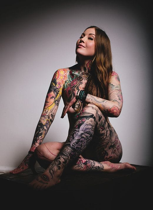 Beautiful photographs of tattoo models. Rad tattoos on the body of Ebba Cronstedt, shot by Alexander Koste. #tattoomodel #tattoodobabe #ebbacronstedt