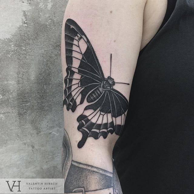 Symmetrical butterfly piece