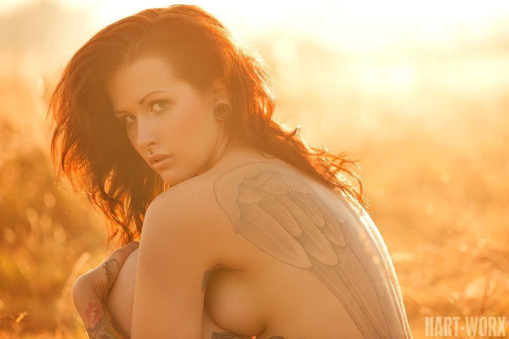 The angel Jules by Harmut Norenberg aka Hartworx. #tattoomodel #tattoodobabe #angel #jules #harmunorenberg