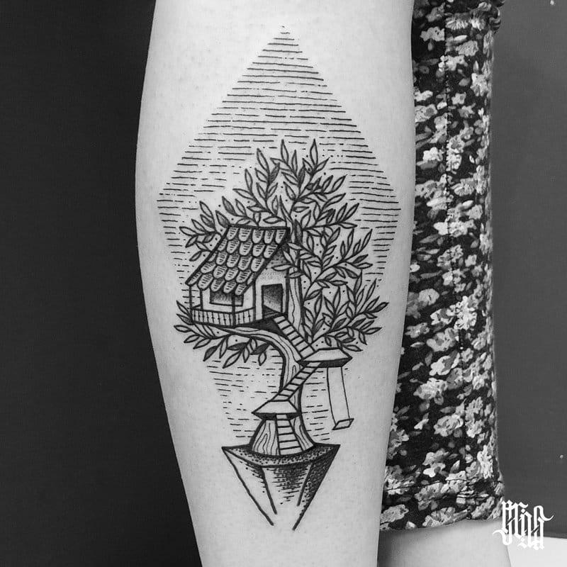 Quem nunca teve o sonho de uma casa na árvore?