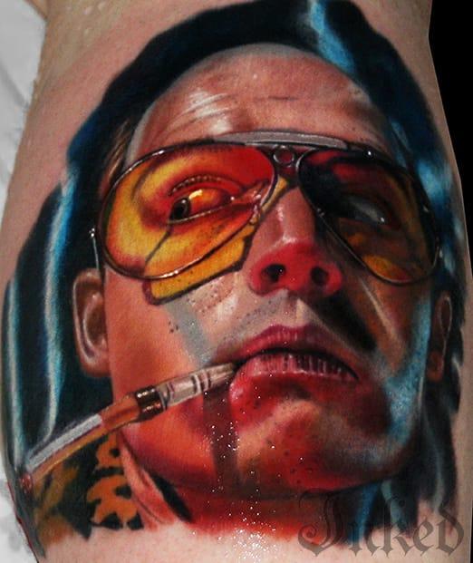 Strange And Wonderful Hunter S. Thompson Inspired Tattoos