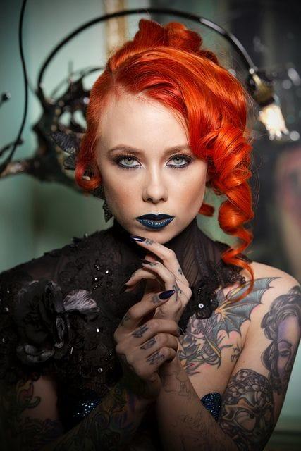 Beautiful Megan Massacre, photographer unknown. #meganmassacre #tattoomodel #tattoodobabe