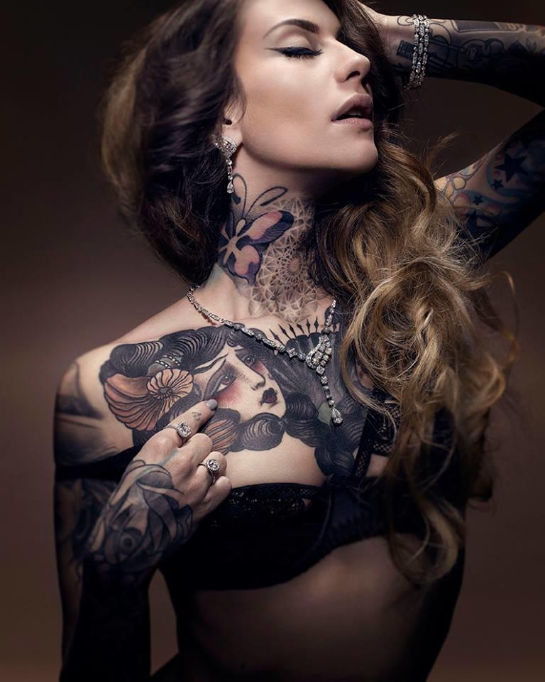 Gorgeous shot by Thibault Breton, model Lady Diamond.. #tattoomodel #tattoodobabe