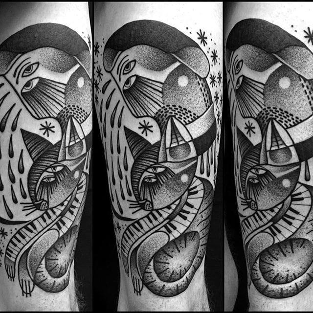 Surreal Original Black Tattoos By Jaya Suartika