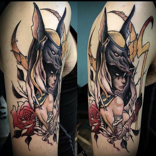 16 Symbolic Anubis Tattoos | Tattoodo