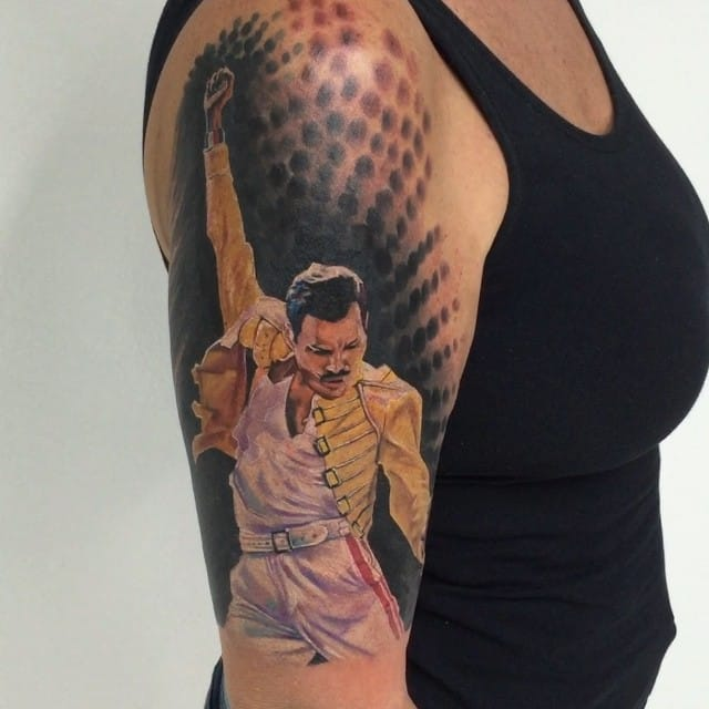 12 Showstopping Freddie Mercury Tattoos Tattoodo