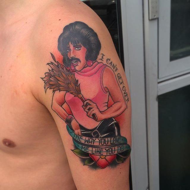 Freddie Mercury Tattoo by Adam Knowles