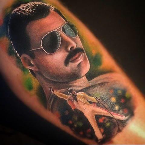 Freddie Mercury Tattoo by Johnny Smith