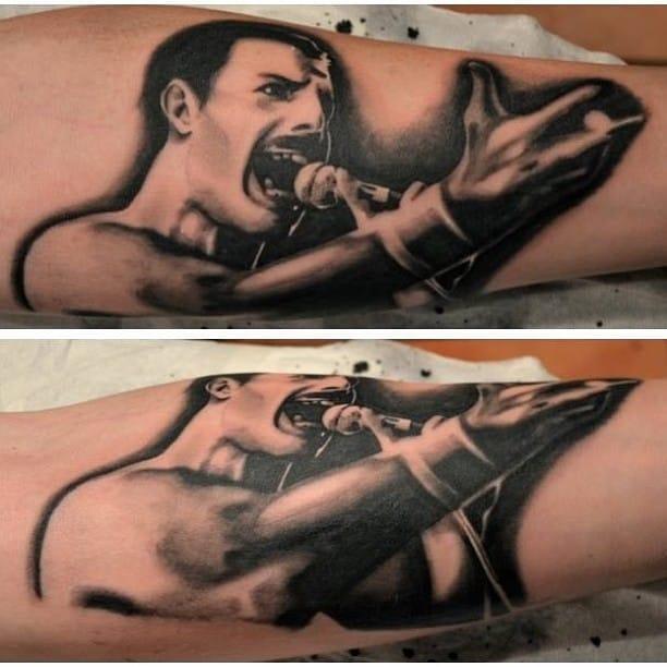 Freddie Mercury Tattoo by Kasper Husballe