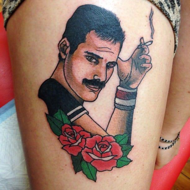 Freddie Mercury Tattoo by Lauren Winzer