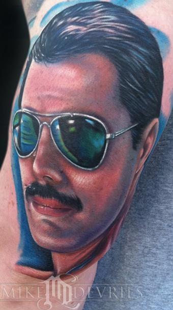 Freddie Mercury Tattoo by Mike DeVries